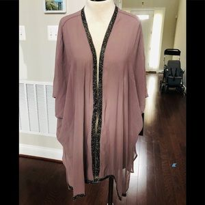 BEAUTIFUL SHEER COVERUP WITH EMBELLISHED SIDE